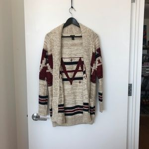 F21 Oversized Cardigan with Pockets